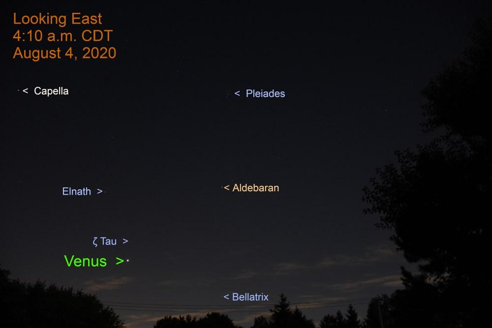 Venus in Taurus, August 4, 2020