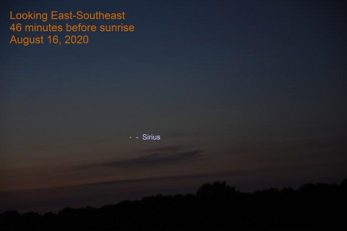 Sirius, August 16, 2020