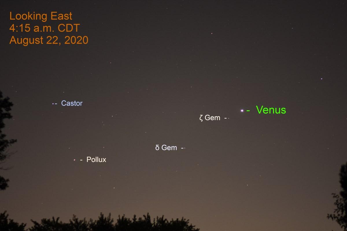 Venus in Gemini, August 22