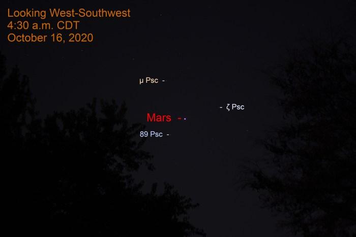 Mars in Pisces, October 16, 2020.
