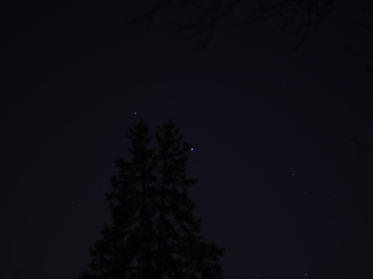 Jupiter and Saturn, November 11, 2020