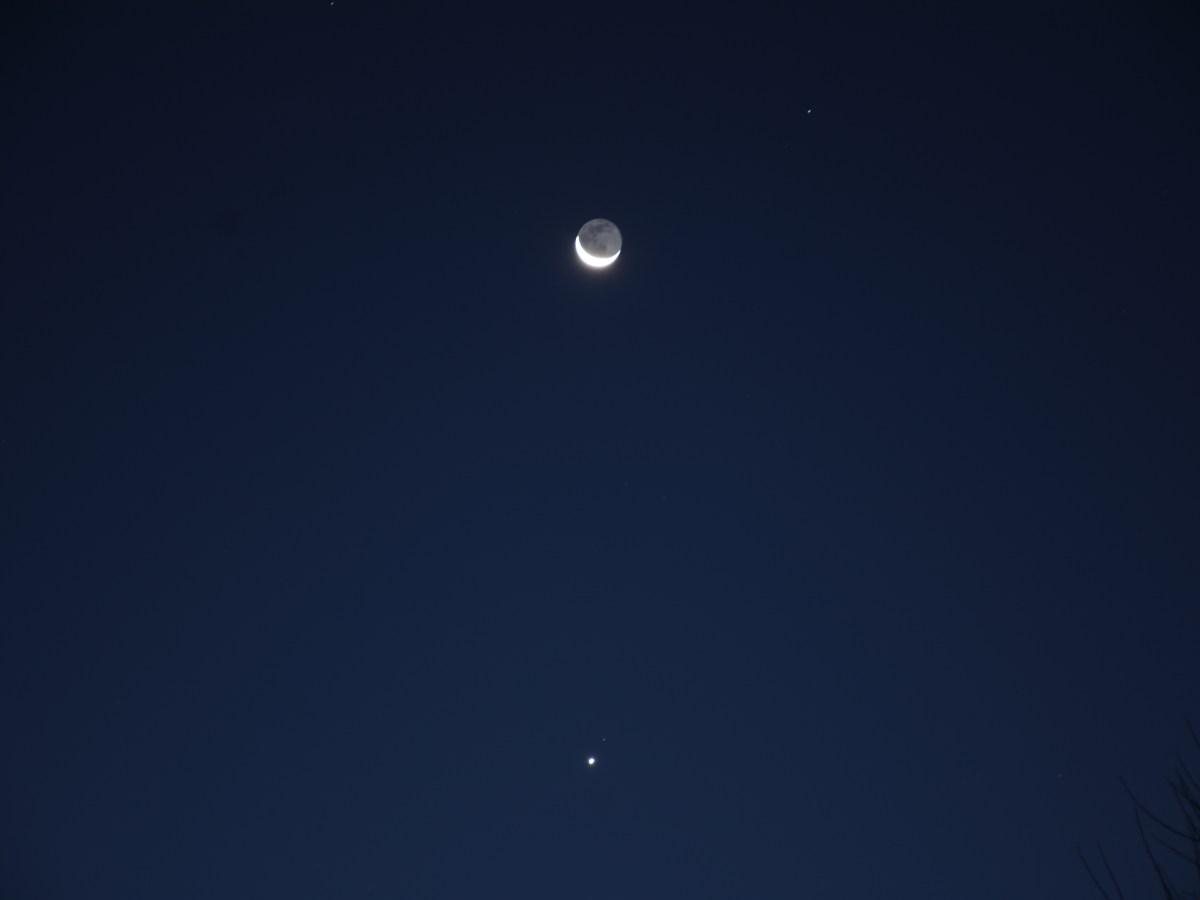 Venus and crescent Moon, November 12, 2020