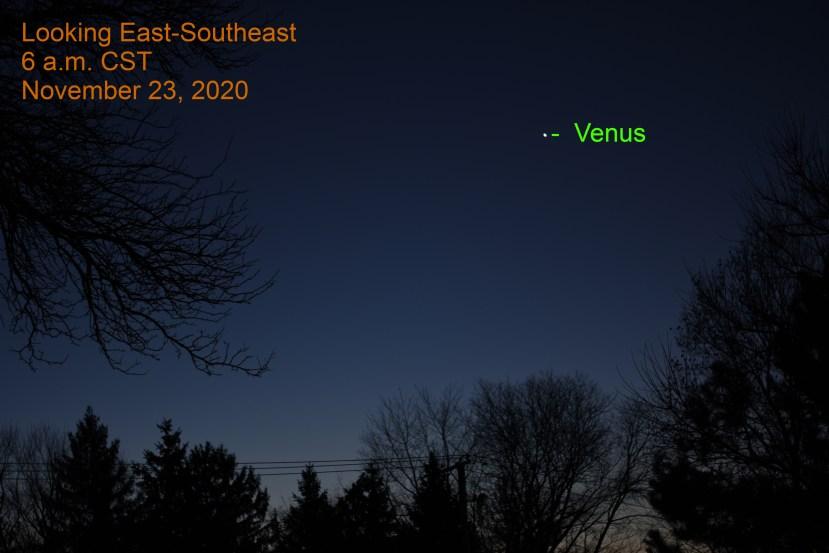 Venus, November 23, 2020