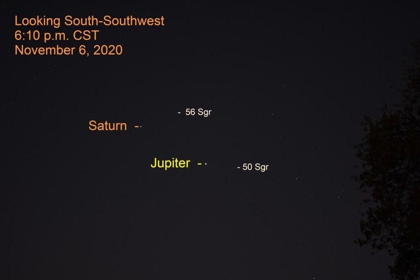 Jupiter and Saturn, November 6, 2020