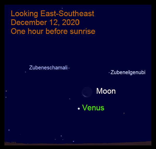Venus and Moon, December 12, 2020