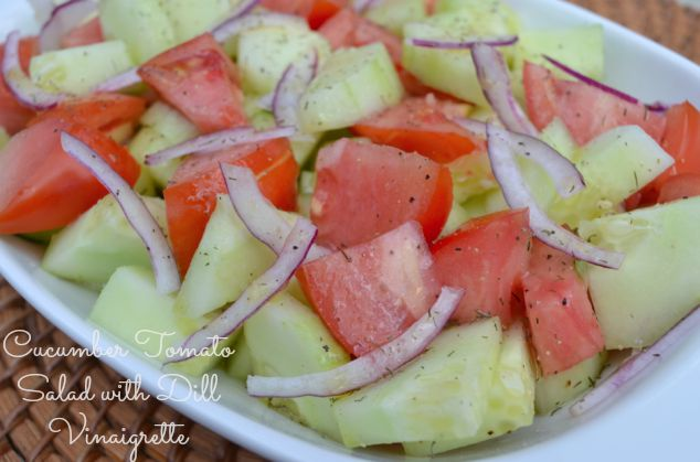 Cucumber Tomato Salad with Dill Vinaigrette