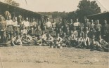 Troops by the Stables c1915