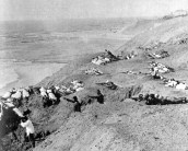 From the heights above Gallipoli the Turks had an open field of fire