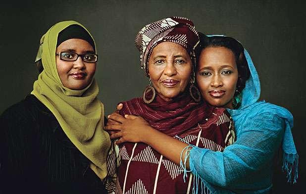 Iman assists helping Somali women