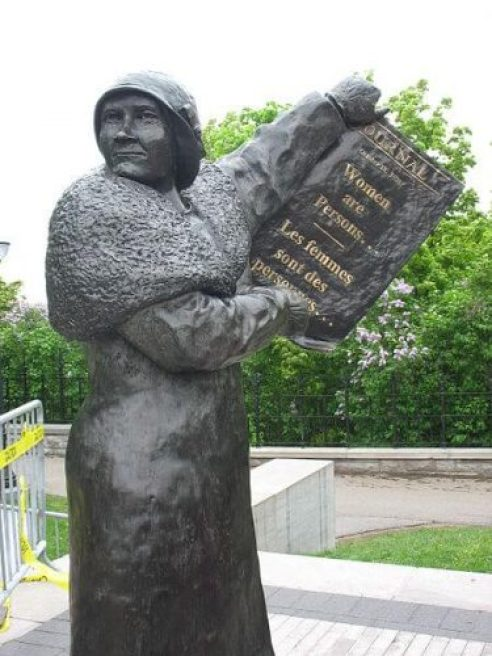 Monument of Canadian Activist Nellie McClung