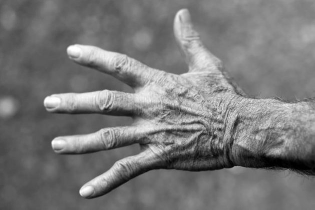 Older woman's hand