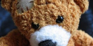 Teddy bear associates with healing