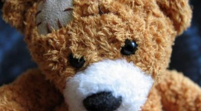 Teddy bear associates with healing