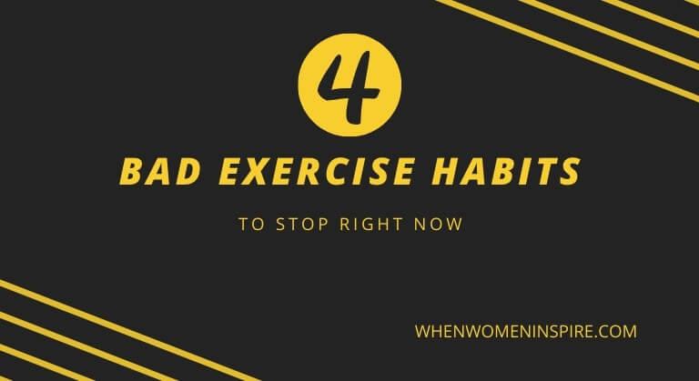 Bad exercise habits