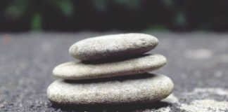 Balancing life is like balancing these stones