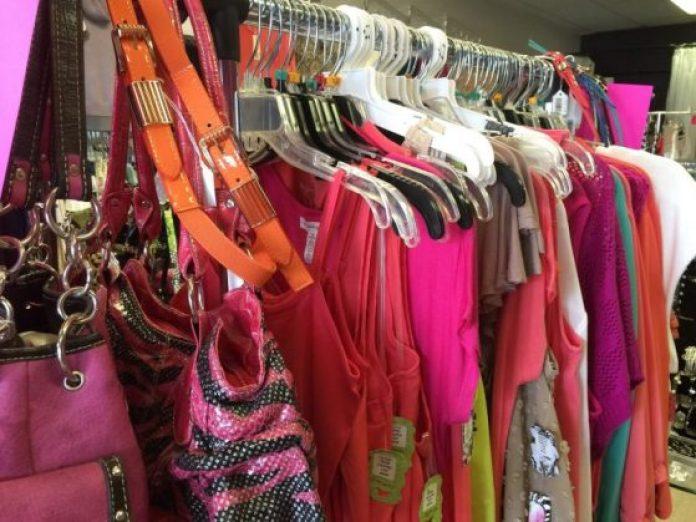 Wardrobe in a store