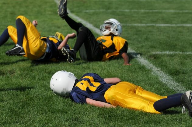 Hurt on the football field