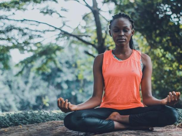 She meditates for a healthier lifestyle