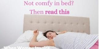 Sleeping comfortably tips