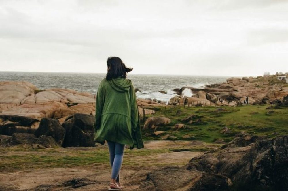 Ways to manage a chronic illness include getting fresh air like this woman