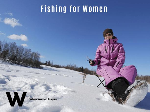 pêche sur glace pour les femmes