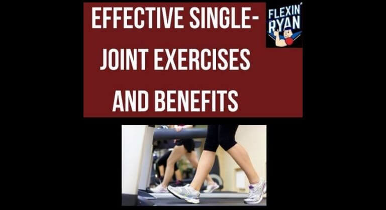 Single-joint exercises with dumbbells or machines