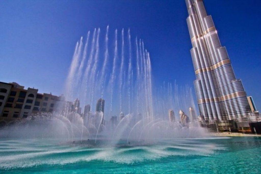 Dubai family holidays include watching the Dubai Fountain