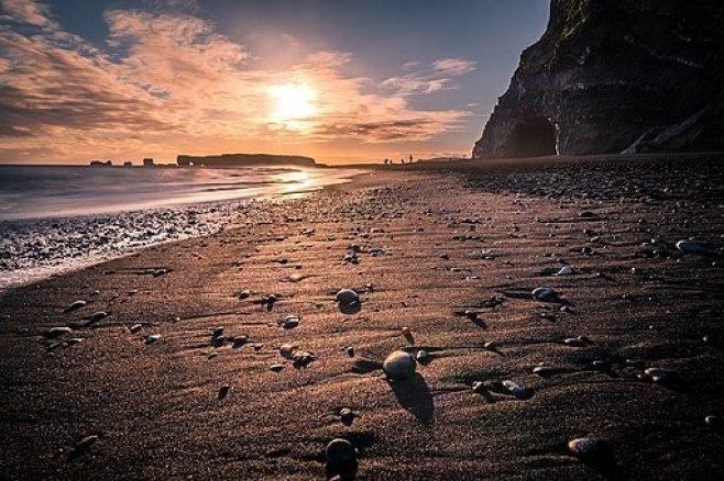 Iceland's Reynisfjara Black Sand Beach