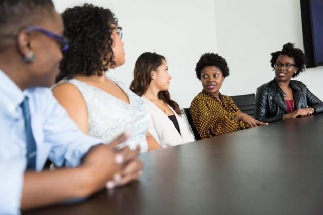Female entrepreneurs in boardroom