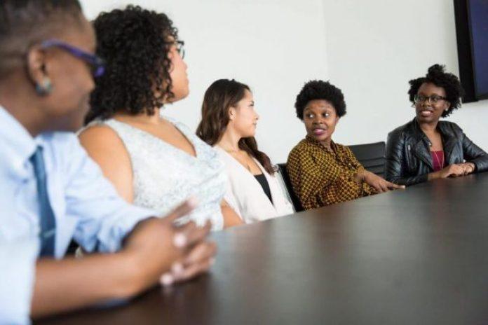 Female entrepreneurs in boardroom