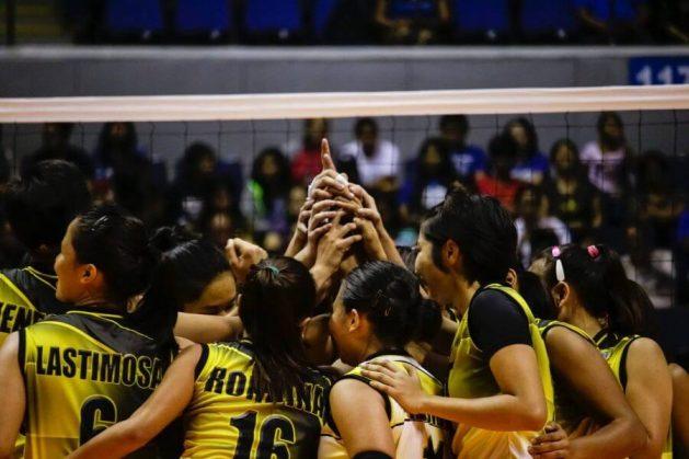 Women's volleyball team on court