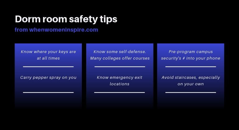 Dorm room safety tips