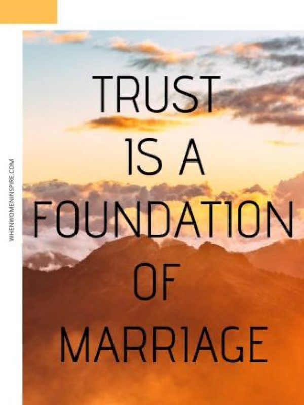 Trust in marriage quote