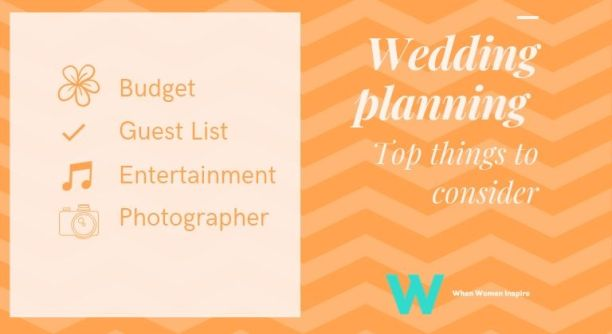 To plan a wedding