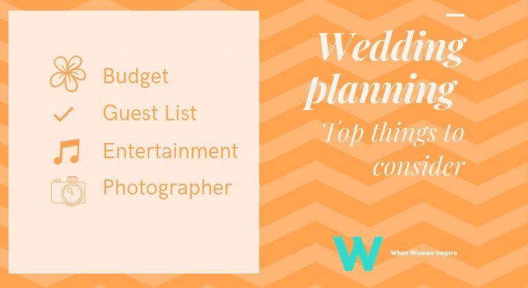 Wedding planning considerations