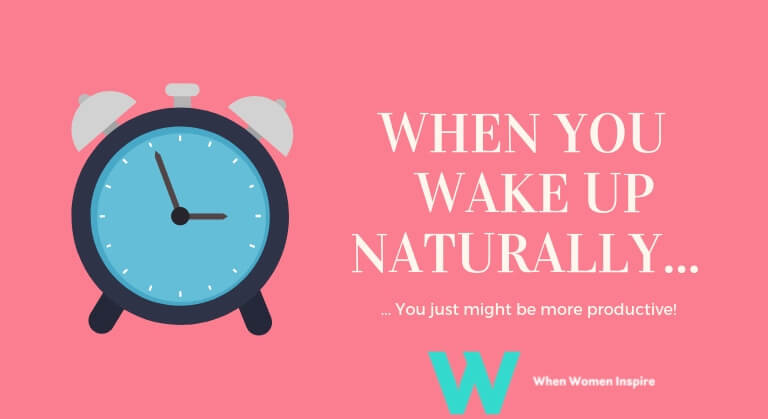 naturally wake yourself up