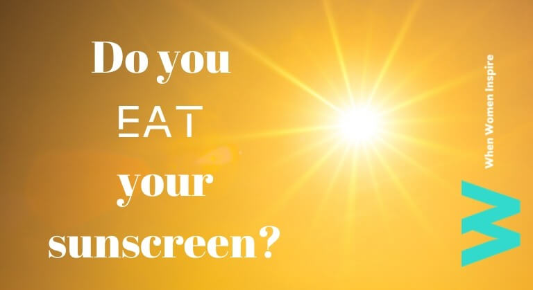 Edible sunscreen