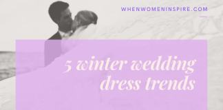 Bridal style; winter wedding dress