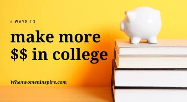 gagner de l'argent au collège