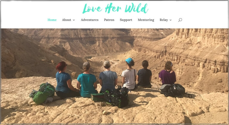 Women hike Love Her Wild