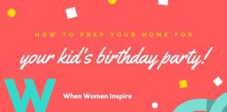 birthday celebration at home