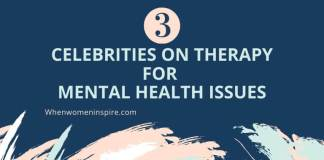 female celebs on therapy and mental health