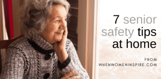 Home safety for seniors like this woman