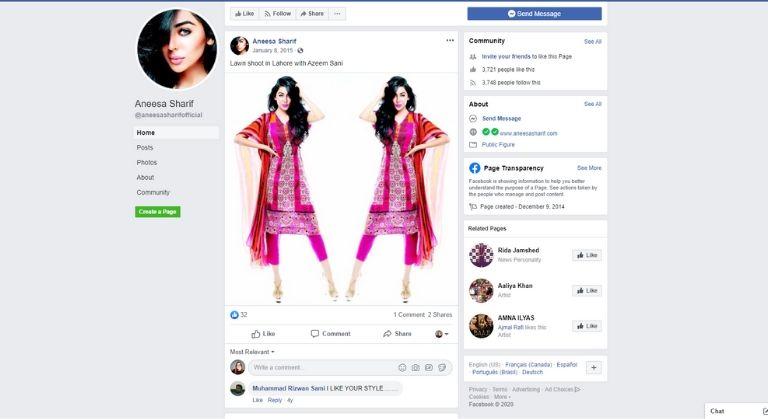 Fashion influencer Aneesa Sharif