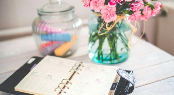 Organized with a calendar