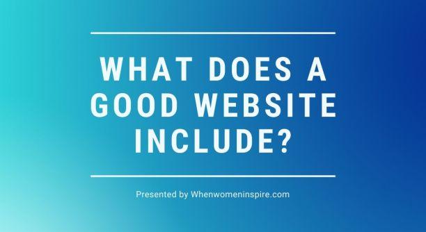 Caractéristiques d'un bon site Web
