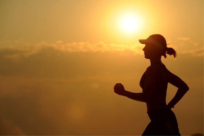 Staying healthy by running