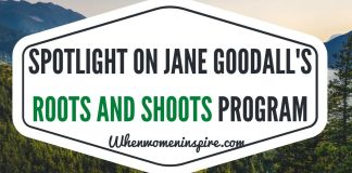 Roots and Shoots est l'initiative de Jane Goodall