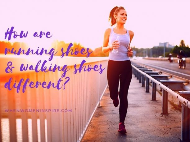 Running versus walking shoes