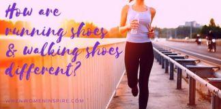 Running versus walking shoes
